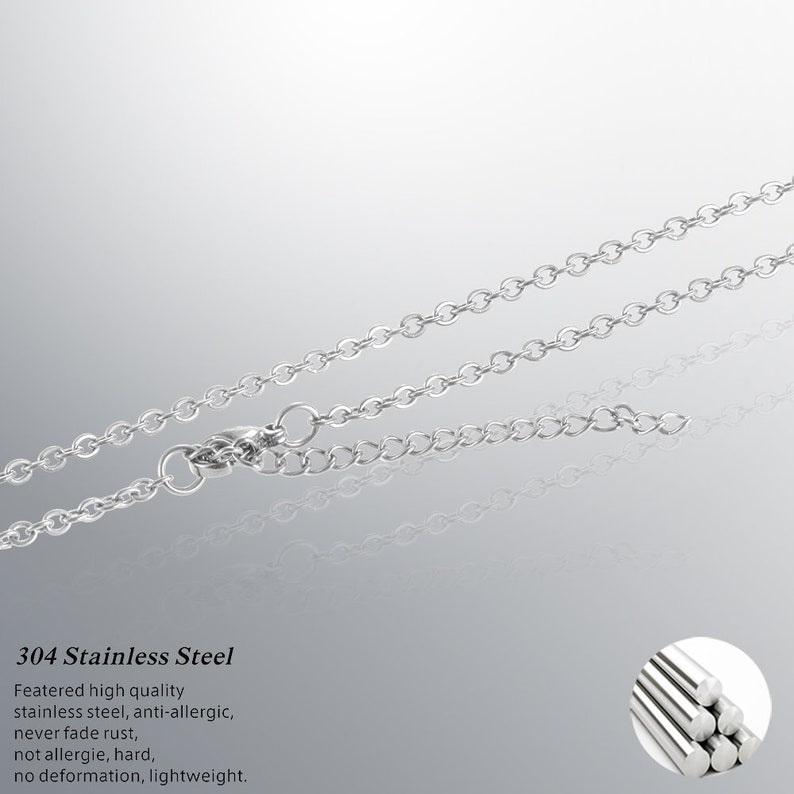 25 pcs 182024 inch dainty  chain 1.5mm  Stainless Steel cable  chains O shape necklace-with clasps