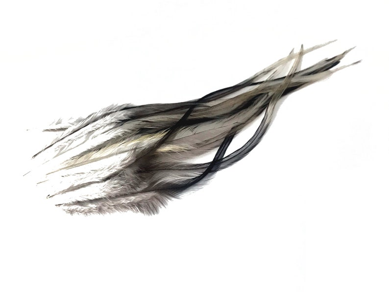 1 Dozen Short SOLID PEACOCK GREEN Rooster Hair Extension Feathers