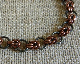 Half-Byzantine & Loops Chainmaille Bracelet