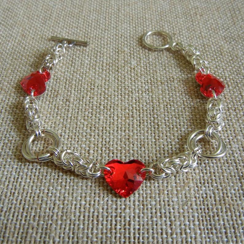 Byzantine Roses & Hearts Sweetheart Bracelet image 0