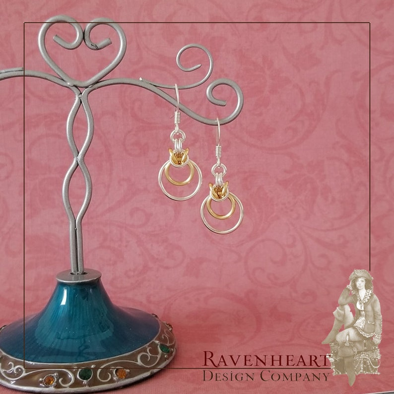 Silver-Plated Copper & Satin Gold Enameled Copper Byzantine image 0