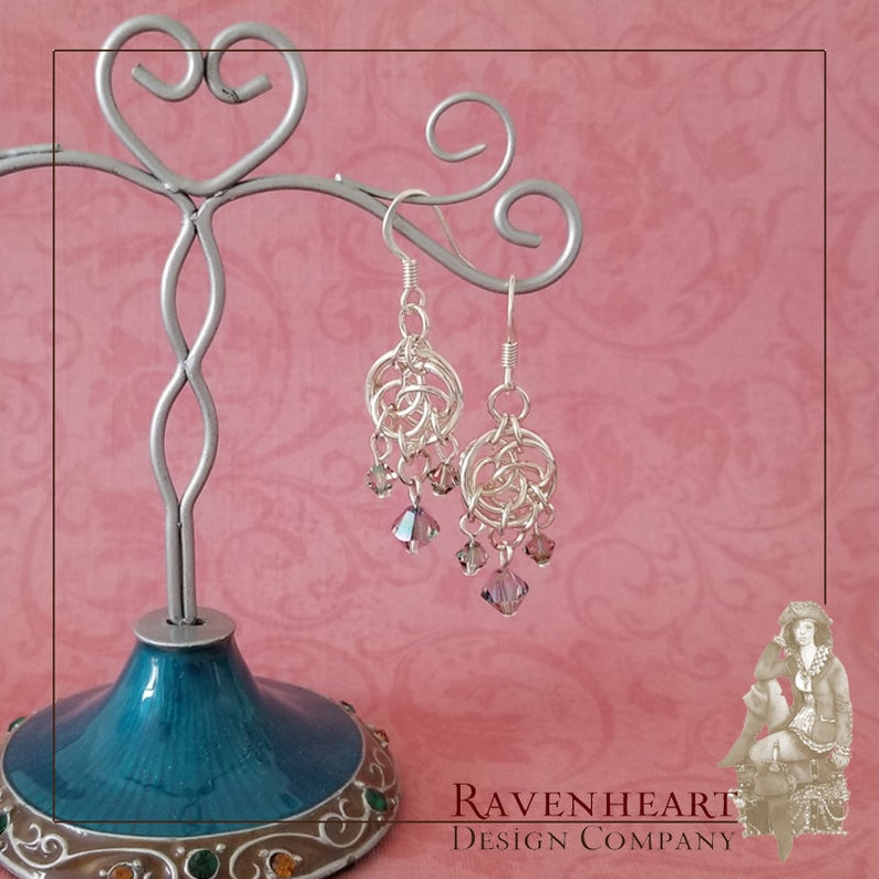 Silver-Plated Copper Celtic Circles Chainmaille Chandelier image 0