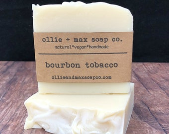 Bourbon Tobacco Soap, Vegan Soap, Natural Soap, Organic Soap, Cold Process Soap