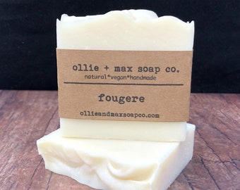 Fougere Soap, Vegan Soap, Fern Soap, Unisex Soap, Masculine Soap, Natural Soap