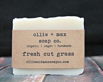 Fresh Cut Grass Soap, Vegan Soap, Organic Soap, Natural Soap