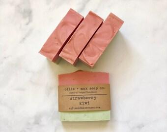 Strawberry Kiwi Soap, Vegan Soap, Organic Soap, Natural Soap