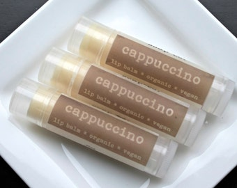 CAPPUCCINO  Organic Lip Balm, Vegan Lip Balm .15oz