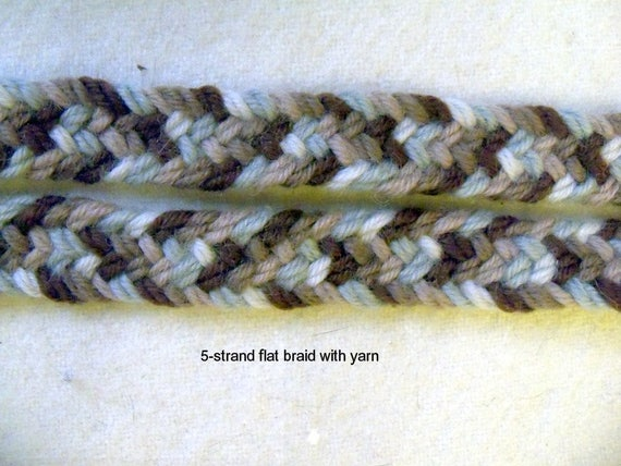 "pdf multi strand braids for flat braided rugs,standard \u0026 flat braids up to 12 strands,patterned braids for paracord yarn crafts 5 strand flat braid kumihimo 20 strand ""flat"" braid"