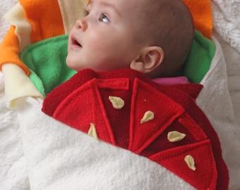 Unique Baby Shower Gift, Burrito Baby Blanket, Baby Burrito Blanket, newborn baby shower gift, Foodie Baby Shower Gift,  Cute Baby Blanket