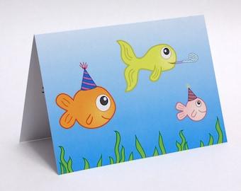 Birthday Fishes -  Birthday Card, Birthday Pun, Funny Birthday Card, Cute Birthday Card