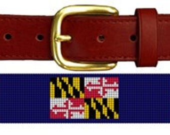 aef3c8c0853a4 Maryland flag belt | Etsy