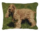 English Cocker Spaniel Needlepoint Pillow DIY Canvas