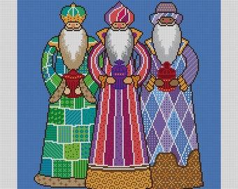 Three Kings Needlepoint Canvas