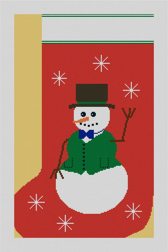 image 0 - Needlepoint Christmas Stocking Canvas