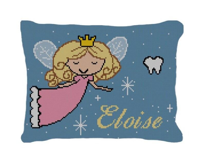 Tooth Fairy Needlepoint Pillow DIY Canvas