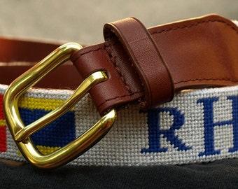 Custom Finished Needlepoint Belt