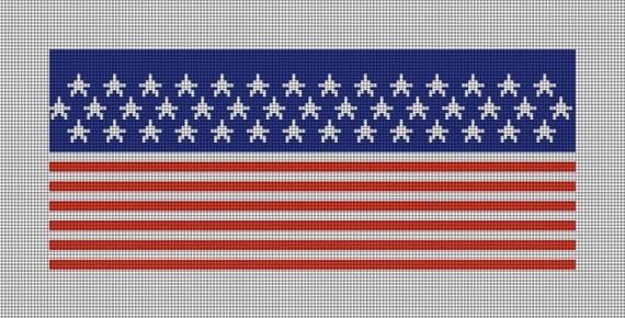 Union Jack Flag Needlepoint Belt DIY Canvas