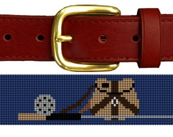 Trout Fishing Needlepoint Belt Canvas