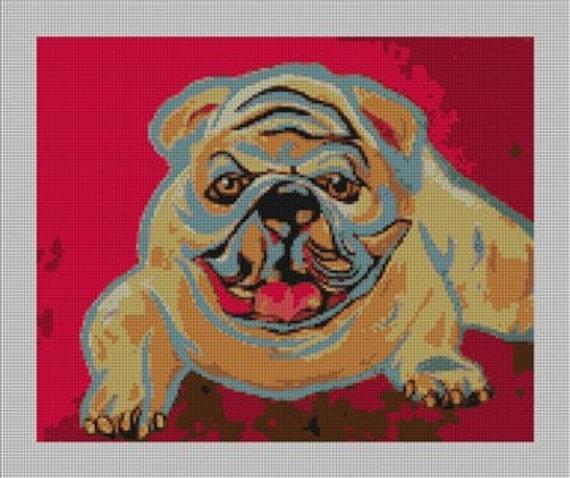 English Bulldog Needlepoint Wallet DIY Canvas