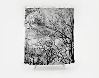 Made In Central Park Tree Photography Shower Curtain