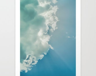 Clouds Blue Sky Photography Print