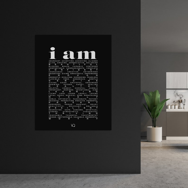 Affirmations Quote Print image 0
