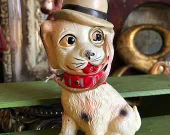 693f714e7a2 He s Come Looking Dapper Generation After Generation 1930s Celluloid Dog  With Monocle