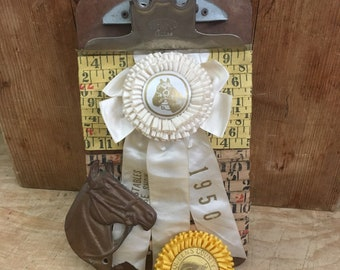 Who Cares That You Don't Own A Horse Or Win The Ribbon Cream 1950s Vintage Show Rosette