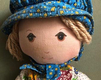 Dear Old Holly Hobby Has Aged Gracefully Vintage 1970s Cloth Doll