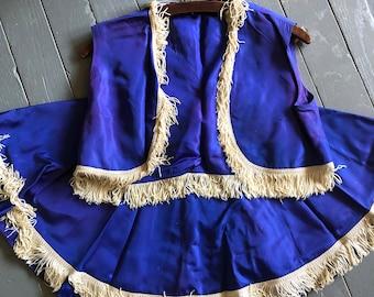 Definitely A Flashy Buckaroo Vintage Blue Horse Rider Costume