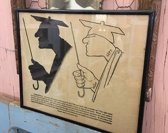 The Perfect Gift For Your Teacher Antique 1914s Hand Shadow Puppet Print