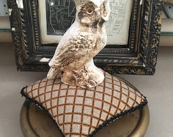 A Victorian Antique Display Pillow That Will Look Best At Halloween
