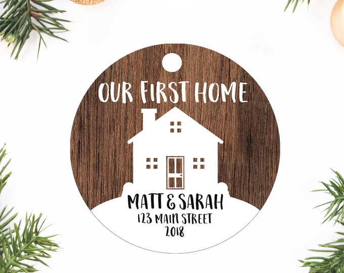 Featured listing image: Our first Home, Christmas Ornament, Our First Home Ornament, Personalized Gift, Custom ornament, Personalized Ornament, Housewarming Gift