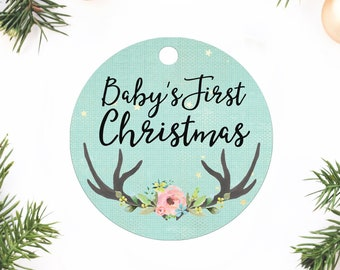 Baby's First Christmas, Custom Ornament, Personalized Gift, Baby shower gift, Gift for baby shower, Baby's First Ornament, first Christmas