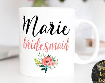 Bridal Party gift, Bridesmaid gift, Bridesmaid, Bridesmaid proposal, Personalized gift, Maid of honor gift, bridesmaid gift box, bridal mug