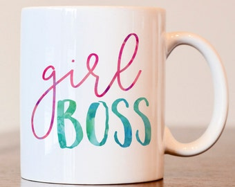 Girl boss mug, #GirlBoss, Girl Boss Mug, Entrepreneur, Lady Boss, Boss Lady, Gift for boss, gift for small business owner, girl boss mug