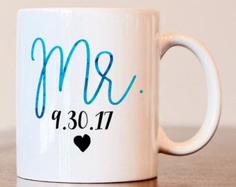 Mr Mug, his mug, hubby mug, His Coffee Mug, Mr Coffee Mug, hubby coffee mug, husband mug, mr mug, his mug, wedding gift, couples gift