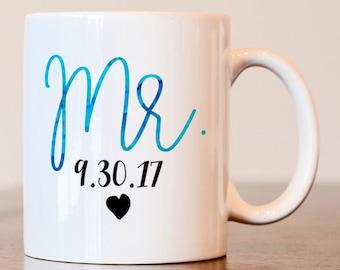 Mr Mug, his mug, hubby mug, His Coffee Mug, Mr Coffee Mug, hubby coffee mug, husband mug, mr mug, his mug, wedding gift, couples gift
