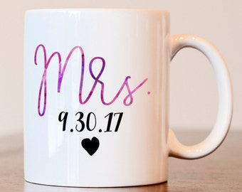 Mr and Mrs mug, Mrs Mug, Wedding Mug, Hers Mug, Wifey Mug, Mrs. Mug, Couples Mugs, Wedding Gift, Future Mrs Mug