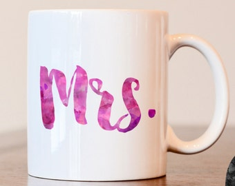 Mrs mug, her mug, wifey mug, her coffee mug, mrs coffee mug, wifey coffee mug, gift for wife, wedding gift, couples mug, hers coffee mug