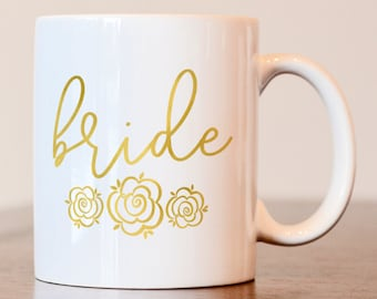 Bride Mug, Gift for Bride to be, Wedding Day Mug, Future Mrs, Gift for Bride, Bridesmaid gift, Bride mug, future mrs, wedding day coffee mug