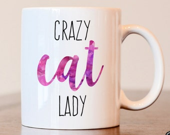 Crazy Cat Lady, Cat Lover Gift, Crazy Cat Lady Mug, Cat Lady Gift, Gift For Cat Lover, Cat Mug, Crazy Cat Lady Mug, Crazy Cat Woman, Cat Mom