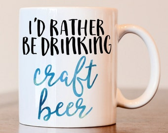Craft Beer, Beer Lover Gift, Beer Mug, Beer Gifts for Dad, Beer Gifts for Him, Gifts for Men, Beer gift for her, Gift for boyfriend, Coffee