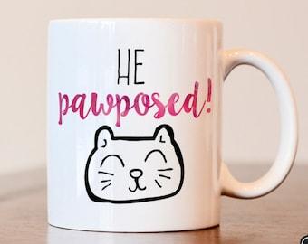 Engagement mug, engagement gift, future mrs mug, engaged mug, bride to be mug, gift for fiancé, gift for engagement, engagement announcement