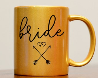 Bride Mug, Gold Bride Mug, Bride to Be Mug, Gift for Bride, Future Mrs Mug, Engagement gift, wedding day mug, bridal party gift, bride gift