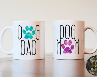 Dog mom Dog dad, Dog mom, Dog Dad, Couples gift, Dog lover gift, Dog mom mug, Dog dad mug, gift for couple, gift for dog owner, wedding gift