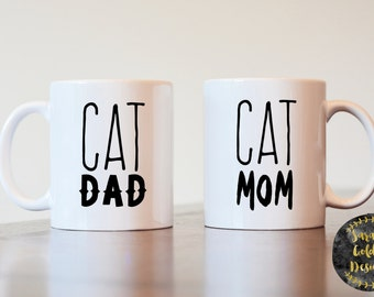 Cat Dad, Cat Mom, Cat Dad Gift, Cat Mom Gift, Couples Gift, Gift for Cat Lover, Cat Lover Gift, Mugs For Cat Lovers, Gift For Couples, Cats