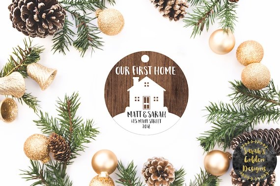 Our First Home Christmas Ornament.Our First Home Christmas Ornament Our First Home Ornament Personalized Gift Custom Ornament Personalized Ornament Housewarming Gift