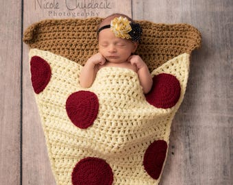 Pizza Slice Cocoon Blanket MADE To ORDER All Sizes Snuggle Blanket Sleeping  Bag Newborn Baby Toddler Child Adult Sizes 2a4d3453c