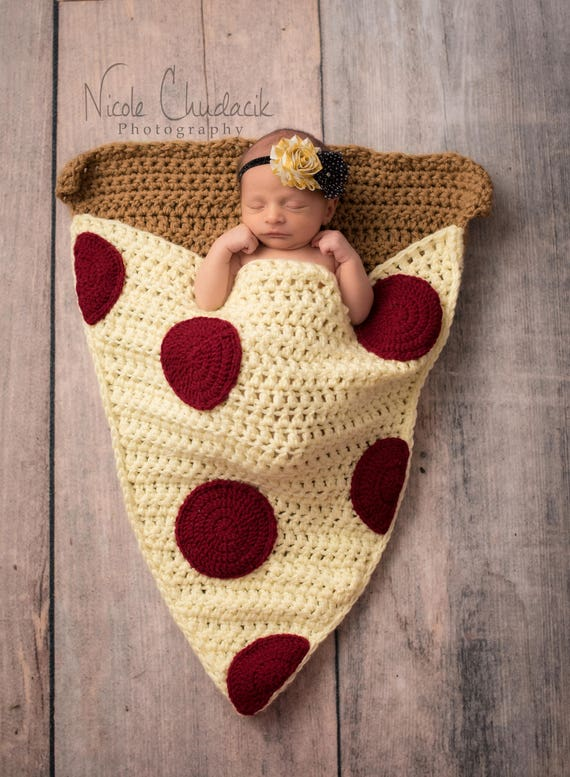 Pizza Slice Cocoon Blanket MADE To ORDER All Sizes Snuggle Blanket Sleeping Bag Newborn Baby Toddler Child Adult Sizes